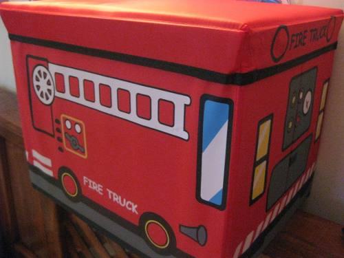Caja Organizadora 2 En 1 Plegable De Niño Camión Bombero