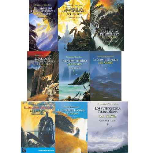 Colección 9 Libros Digitales 9-17 J.r.r. Tolkien En Pdf