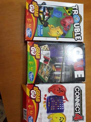 Juegos De Mesa Hasbro (clue,trouble Y Connect4)