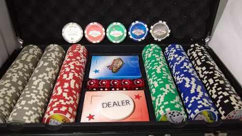 Maletin Poker Las Vegas Original Fichas Cartas Dados 14 Gram