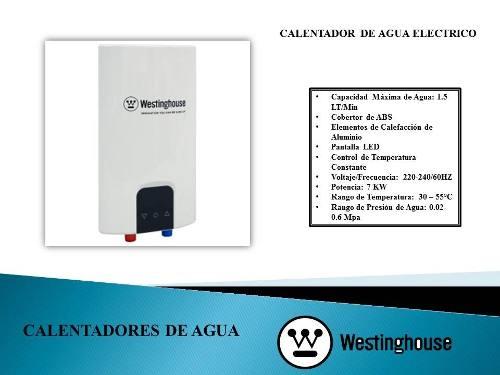 Calentador De Agua Eléctrico 7 Kw - 1.5 Lts Westinghouse