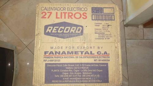 Calentador De Agua Marca Record De 27 Litros
