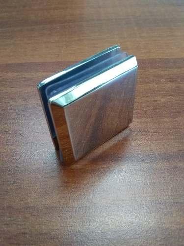 Clip Cromado Para Puerta De Vidrio