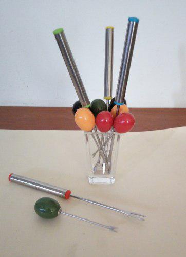 Cubiertos De Picar Pasapalos, Tenedor, Y Cucharitas