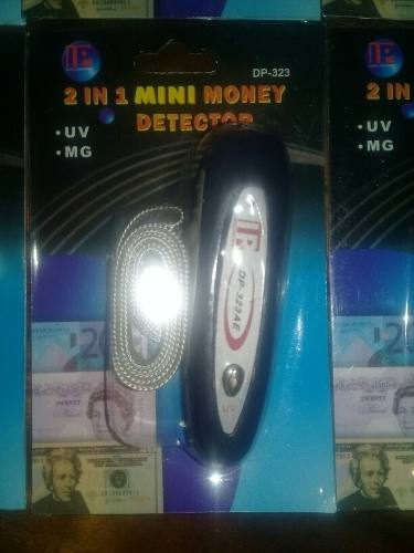 Detector De Billetes Falsos 2 En 1 Con Luz Uv Y Lector Mg