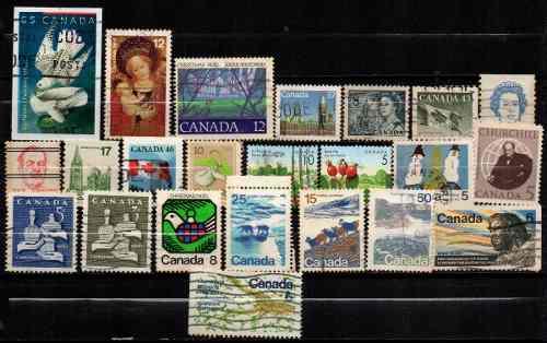 Estampillas Canada Lote 403 Usadas