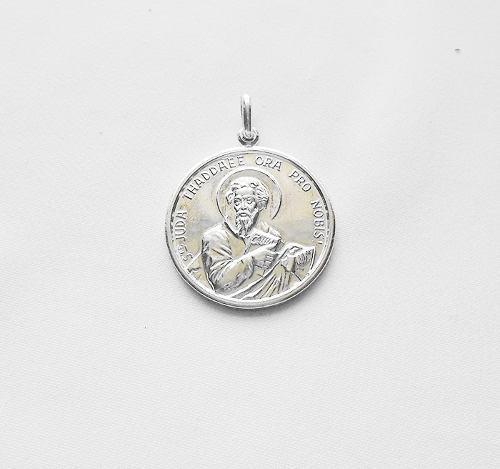 Medalla Grande San Judas Tadeo De Plata 925