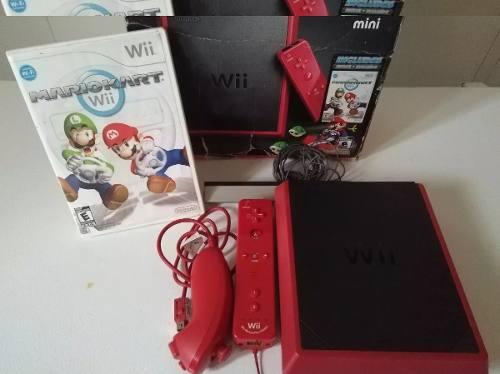 Mini Wii + Juego Original De Mario Kart