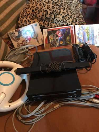 Nintendo Wii Negro Con Todo Sus Accesorios
