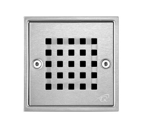 Rejilla Centro De Piso Perforada Quality Metal 12 X 12 Cm