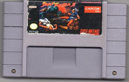 Street Fighter Ii. Super Nintendo Video Juego Original Usado