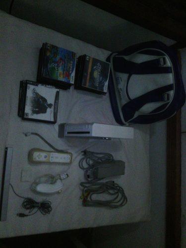 Wii Especial Con Todos Sus Accesorios, Bolso Imp Y 28 Juegos