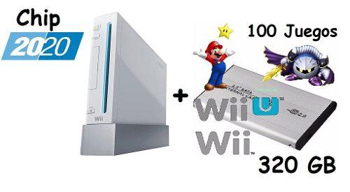 Wow!!! Nintendo Wii Con Chip  + Dd 320gb Con 100 Juegos!