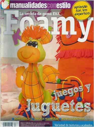18 Revistas Colección Foamy Goma Eva 3d