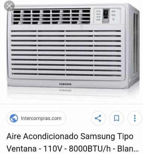 Aire Acondicionado Samsung De Ventana 8000 Btu