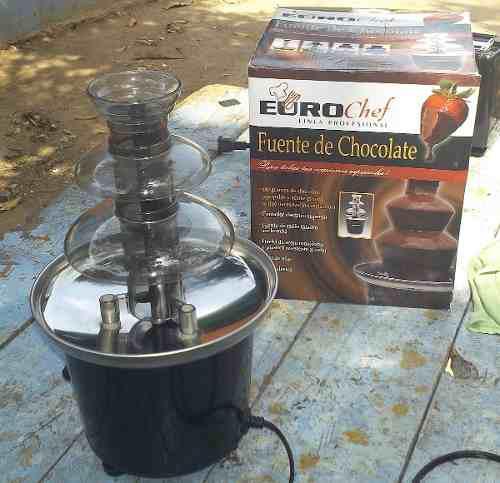 Fuente De Chocolate Euro Chef De Tres Niveles