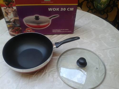 Wok Sarten Antiadherente Reforzado Chef. Nuevo. A Estrenar