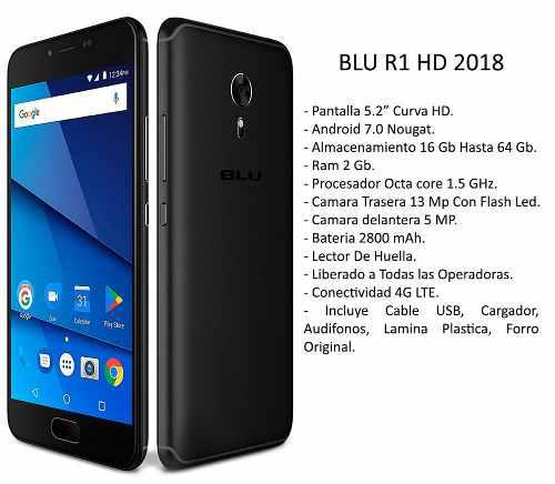 Celular Blu R1 Hd 5.2 Hd Octacore 1.5 16+2gb Liberado 0101
