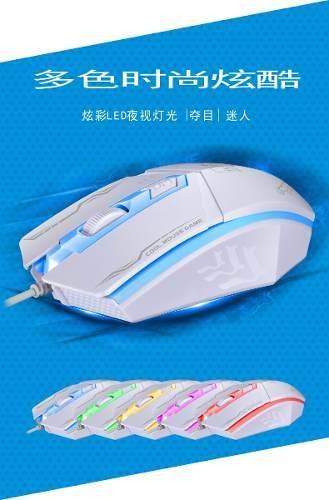 Mouse Pc Usb Gaming Gamer Con Led Rgb 199 Tienda Fisica