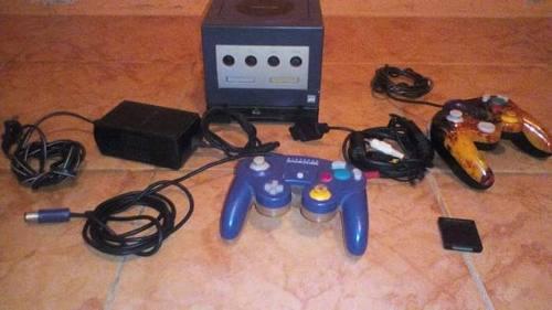 Ninendo Gamecube 2 Controles Todos Su Cableado Y Una Memoria
