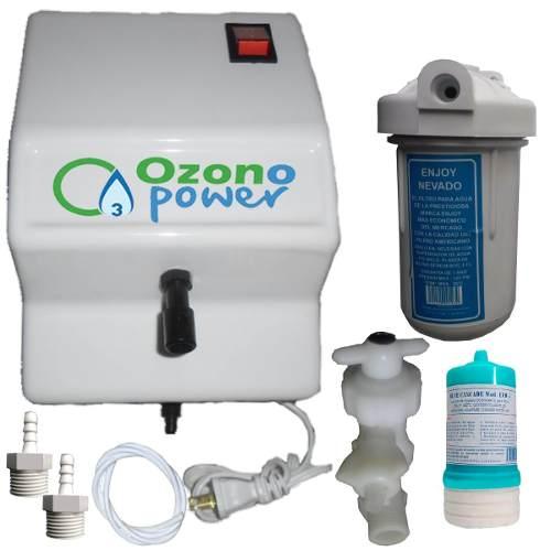 Planta Filtro Ozono Power + Filtro De Agua + Cartucho + Kit