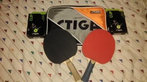 Juego De Raquetas De Ping Pong Marca Stiga