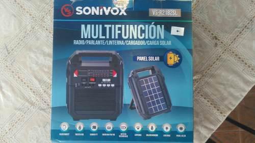 Radio Multifuncion Marca Sonivox Linterna Cargador Solar Etc