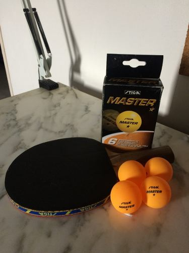 Raqueta De Ping Pong Stiga Y Pelotas De Ping Pong Stiga