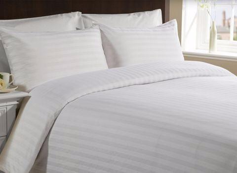 Juego De Sabanas Queen Blanca Importada Hogar Hotel