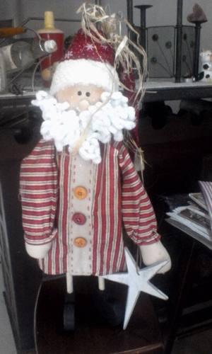 Muñeco De Navidad Con Madera
