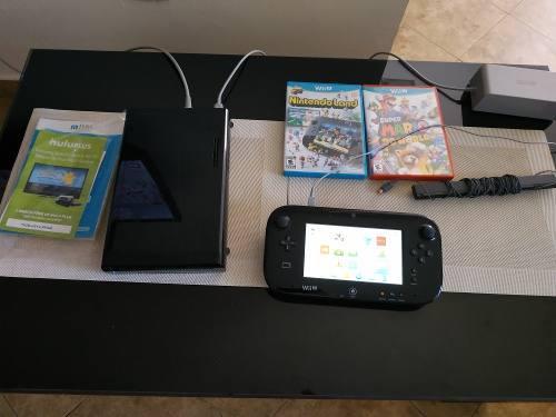 Consola Nintendo Wii U Deluxe + Juegos Perfecto Estado 150v