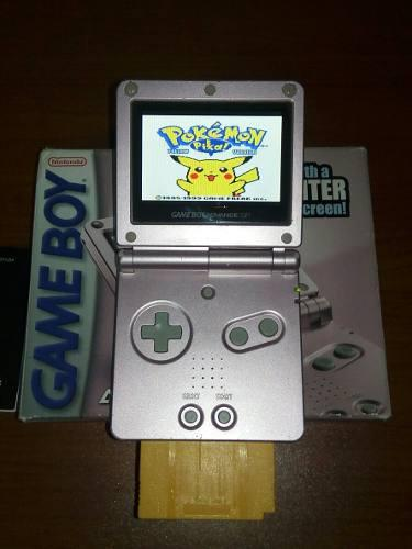 Nintendo Game Boy Advance Sp Ags 101 + Gbc Pokemon Yellow