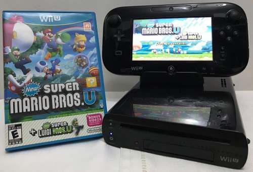Nintendo Wii U Black 32gb (130) + Super Mario Chacao