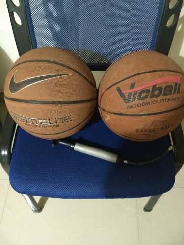 Pelotas De Basketball Y Bomba De Aire Combo