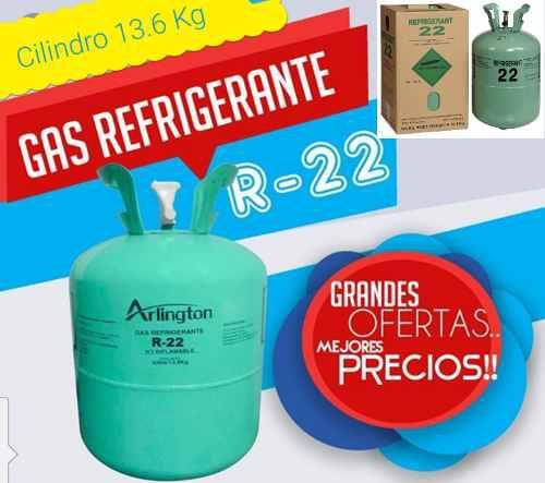 R22 Gas 65$ Refrigerante Cilindro Completo 13.6 Kg Sellado