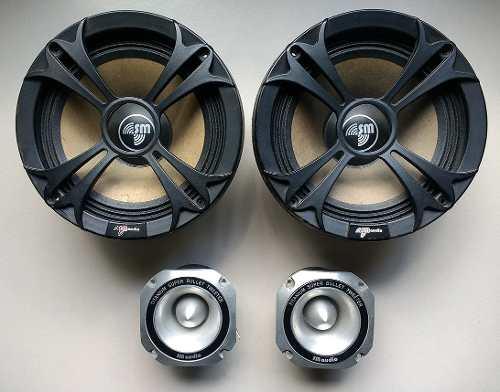 2 Medios 8 Pulgadas Sm Audio + 2 Twister Sm Audio Como Nuevo