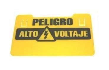 Aviso Cerco Eléctrico Con Impresión Peligro Alto Voltaje