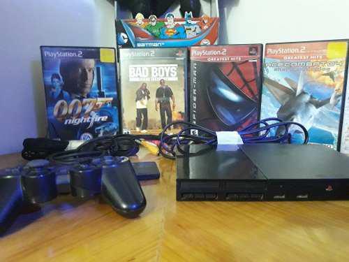 Playstation 2 Con Juegos Originales