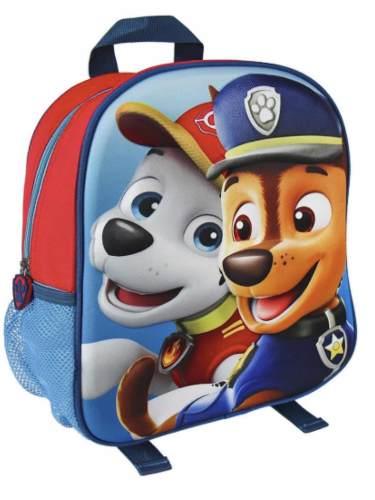 Morral Escolar Bolso 3d Patrulla Canina Paw Patrol Disney