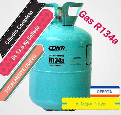 Gas R134 Refrigerant 105$ Cilindro Completo 13.6kg R-134a