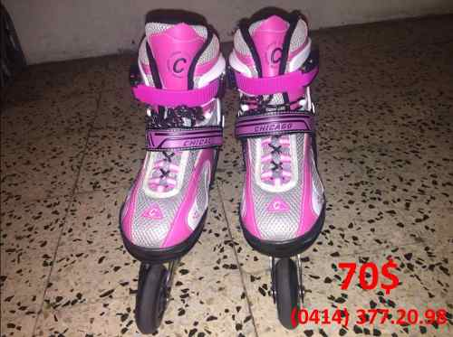 Patines Lineales Chicago Rosados