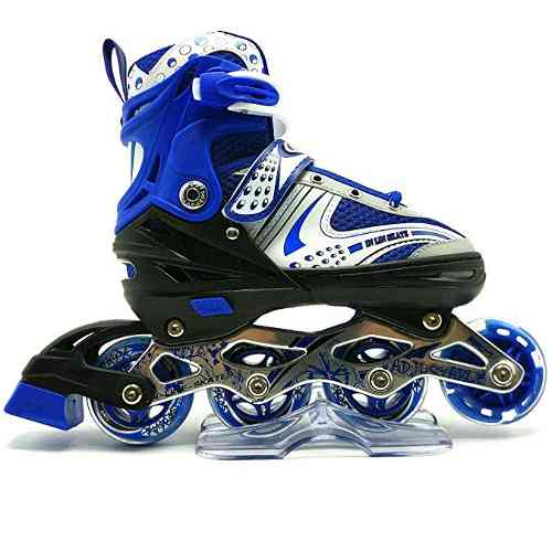 Patines Lineales Ruedas Silicon + Kit De Proteccion
