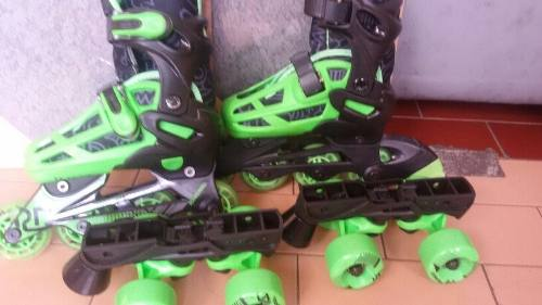 Patines Roller Derby En Linea Y 4 Ruedas Para Niños