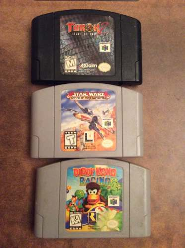 Diddy Kong 64, Turok 2, Star Wars Rogue