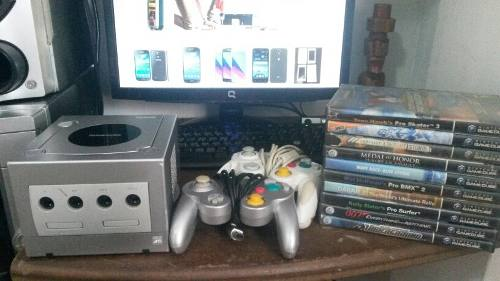 Nintendo Gamecube 2 Controles 10 Juegos Originales