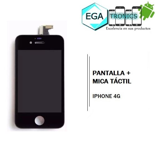 Pantalla + Mica Tactil Apple iPhone 4g Tienda Fisica Nuevas