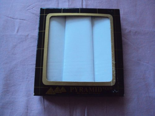 Sets De Tres Pañuelos Pyramid Para Caballeros 100% Algodón