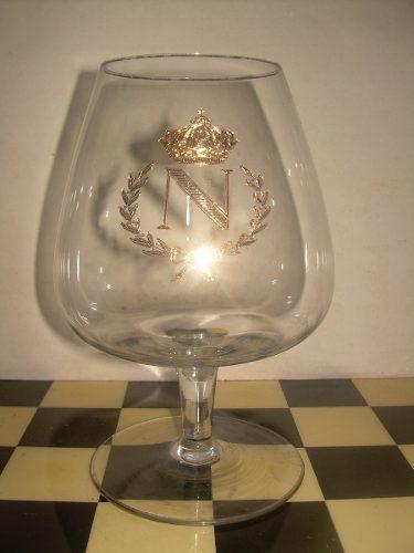 Antigua Copa De Cristal Napoleón Con Destaques En Oro En Bu
