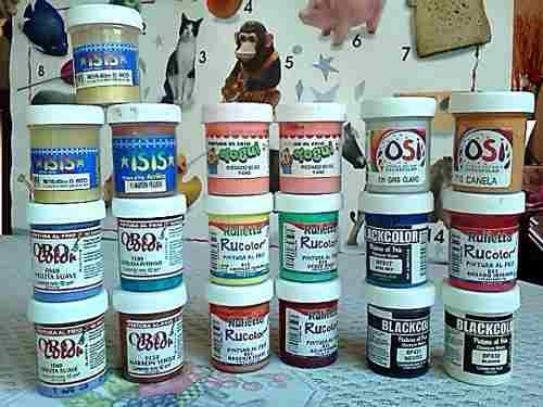 Combo De Pinturas Al Frío,19 Und.,diferentes Colores Y
