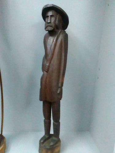 Escultura En Madera Tallada Sacho Panza Y Don Quijote